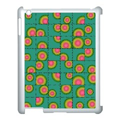 Tiled Circular Gradients Apple Ipad 3/4 Case (white) by linceazul