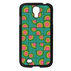 Tiled Circular Gradients Samsung Galaxy S4 I9500/ I9505 Case (black) by linceazul