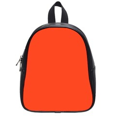 Neon Color   Light Brilliant Scarlet School Bags (small)  by tarastyle