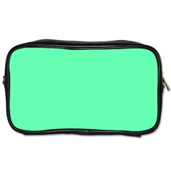 Neon Color   Light Brilliant Spring Green Toiletries Bags by tarastyle