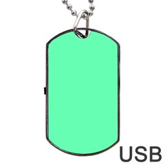 Neon Color   Light Brilliant Spring Green Dog Tag Usb Flash (one Side) by tarastyle