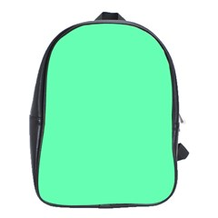 Neon Color   Light Brilliant Spring Green School Bags (xl)  by tarastyle