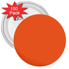 Neon Color   Light Brilliant Vermilion 3  Buttons (100 Pack)  by tarastyle