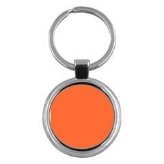 Neon Color   Light Brilliant Vermilion Key Chains (round)  by tarastyle