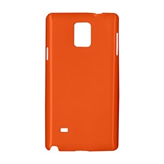 Neon Color   Light Brilliant Vermilion Samsung Galaxy Note 4 Hardshell Case by tarastyle