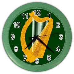Flag Of Leinster Color Wall Clocks by abbeyz71