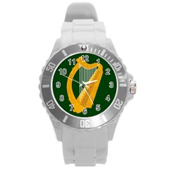 Flag Of Leinster Round Plastic Sport Watch (l)