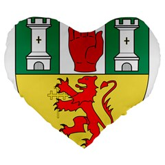 County Antrim Coat Of Arms Large 19  Premium Heart Shape Cushions by abbeyz71