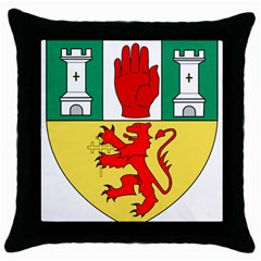 County Antrim Coat Of Arms Throw Pillow Case (black) by abbeyz71