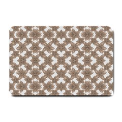 Stylized Leaves Floral Collage Small Doormat  by dflcprints