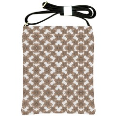 Stylized Leaves Floral Collage Shoulder Sling Bags by dflcprints
