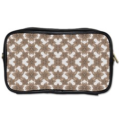 Stylized Leaves Floral Collage Toiletries Bags 2 Side by dflcprints