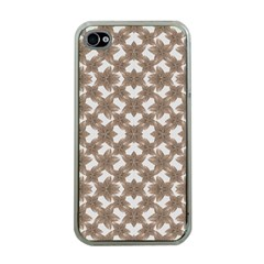Stylized Leaves Floral Collage Apple Iphone 4 Case (clear) by dflcprints