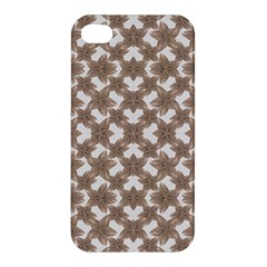Stylized Leaves Floral Collage Apple Iphone 4/4s Hardshell Case by dflcprints