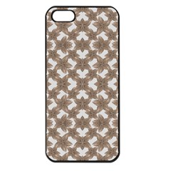 Stylized Leaves Floral Collage Apple Iphone 5 Seamless Case (black) by dflcprints