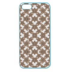 Stylized Leaves Floral Collage Apple Seamless Iphone 5 Case (color) by dflcprints