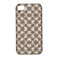 Stylized Leaves Floral Collage Apple Iphone 4/4s Hardshell Case With Stand by dflcprints