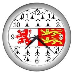 County Carlow Coat Of Arms Wall Clocks (silver)  by abbeyz71
