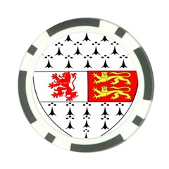 County Carlow Coat Of Arms Poker Chip Card Guard (10 Pack) by abbeyz71