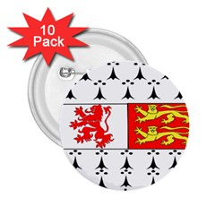 County Carlow Coat Of Arms 2 25  Buttons (10 Pack)  by abbeyz71