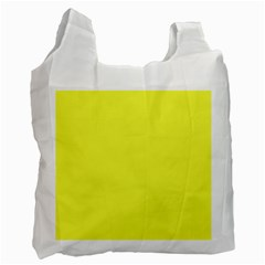 Neon Color   Light Brilliant Yellow Recycle Bag (one Side) by tarastyle