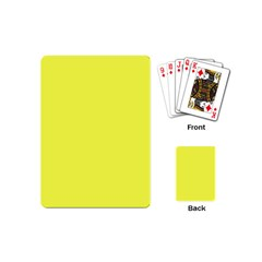 Neon Color   Light Brilliant Yellow Playing Cards (mini)  by tarastyle