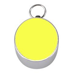 Neon Color   Light Brilliant Yellow Mini Silver Compasses by tarastyle