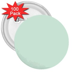 Neon Color   Light Malachite Greenish Gray 3  Buttons (100 Pack)  by tarastyle
