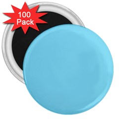 Neon Color   Luminous Vivid Blue 3  Magnets (100 Pack) by tarastyle