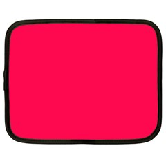 Neon Color   Luminous Vivid Crimson Netbook Case (xxl)  by tarastyle