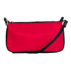 Neon Color   Luminous Vivid Crimson Shoulder Clutch Bags by tarastyle