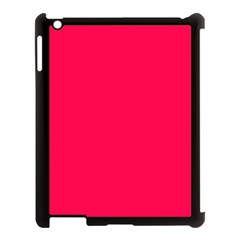 Neon Color   Luminous Vivid Crimson Apple Ipad 3/4 Case (black) by tarastyle