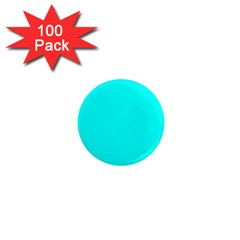 Neon Color   Luminous Vivid Cyan 1  Mini Magnets (100 Pack)  by tarastyle