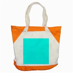 Neon Color   Luminous Vivid Cyan Accent Tote Bag by tarastyle