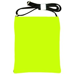 Neon Color   Luminous Vivid Lime Green Shoulder Sling Bags by tarastyle