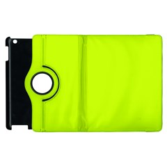 Neon Color   Luminous Vivid Lime Green Apple Ipad 3/4 Flip 360 Case by tarastyle