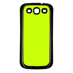 Neon Color   Luminous Vivid Lime Green Samsung Galaxy S3 Back Case (black) by tarastyle