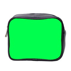 Neon Color   Luminous Vivid Malachite Green Mini Toiletries Bag 2 Side by tarastyle