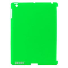 Neon Color   Luminous Vivid Malachite Green Apple Ipad 3/4 Hardshell Case (compatible With Smart Cover) by tarastyle