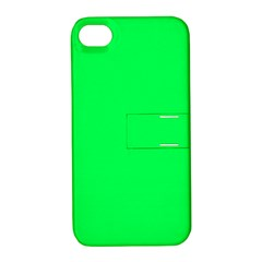 Neon Color   Luminous Vivid Malachite Green Apple Iphone 4/4s Hardshell Case With Stand by tarastyle
