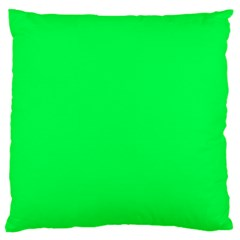 Neon Color   Luminous Vivid Malachite Green Standard Flano Cushion Case (two Sides) by tarastyle