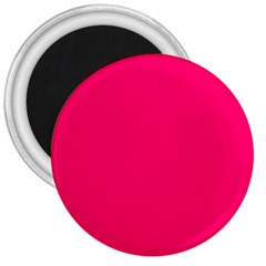 Neon Color   Luminous Vivid Raspberry 3  Magnets by tarastyle
