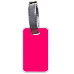 Neon Color   Luminous Vivid Raspberry Luggage Tags (one Side)  by tarastyle
