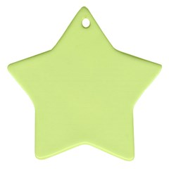 Neon Color   Pale Lime Green Ornament (star) by tarastyle