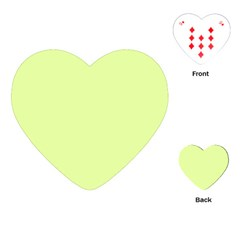 Neon Color   Pale Lime Green Playing Cards (heart)  by tarastyle