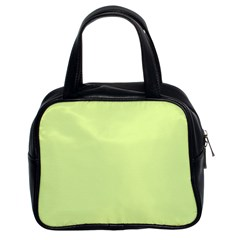Neon Color   Pale Lime Green Classic Handbags (2 Sides) by tarastyle