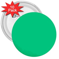 Neon Color   Vivid Aquamarine 3  Buttons (10 Pack)  by tarastyle