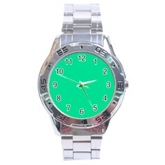 Neon Color   Vivid Aquamarine Stainless Steel Analogue Watch by tarastyle