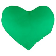 Neon Color   Vivid Aquamarine Large 19  Premium Flano Heart Shape Cushions by tarastyle