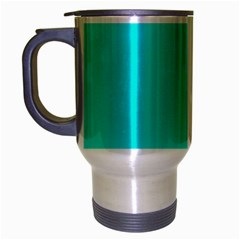 Neon Color   Vivid Cyan Travel Mug (silver Gray) by tarastyle